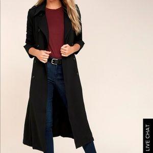 J.O.A. Jackets & Coats - JOA Los Angeles Black Trench-coat
